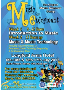 Music For Enjoyment Summer Camp @ The Longford Arms Hotel