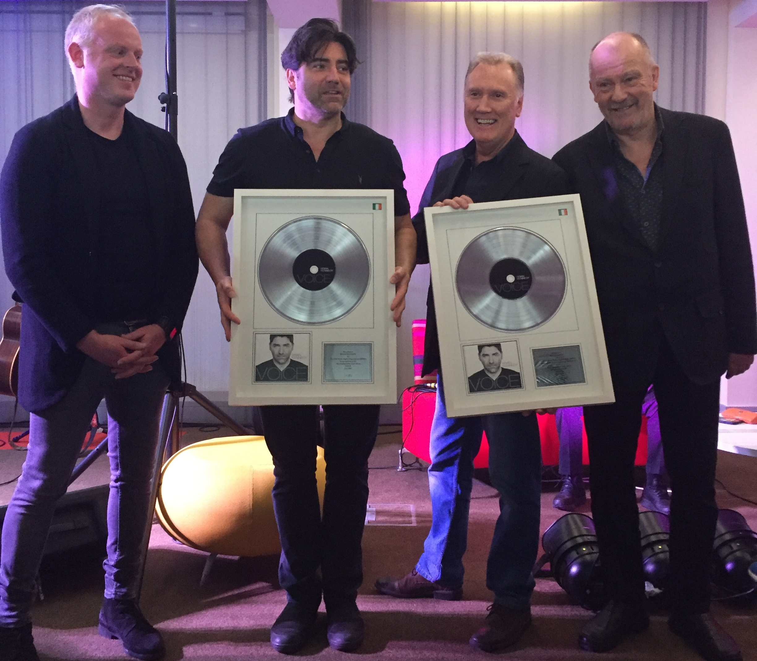 Brian Kennedy and Billy Farrell recognised for their No.1 album