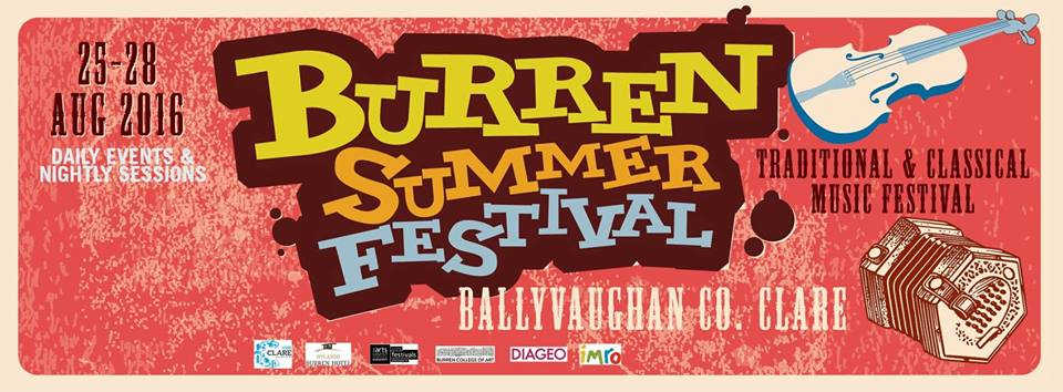 Burren Summer Festival 25th – 28th Of August 2016