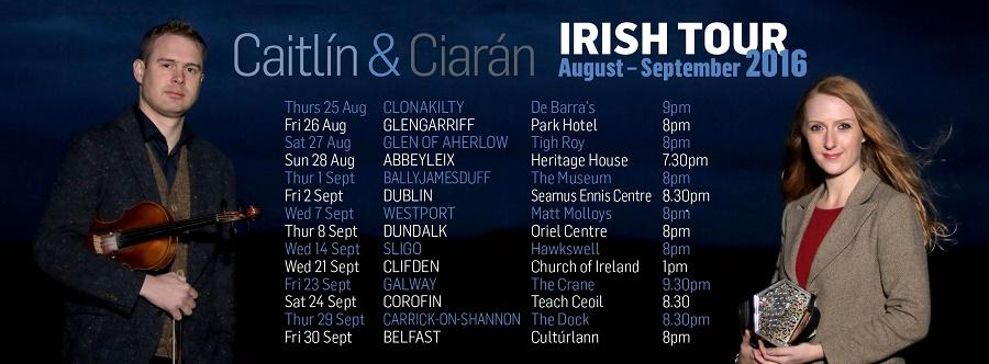 Caitlín Nic Gabhann & Ciarán Ó Maonaigh Announce Their Irish Tour