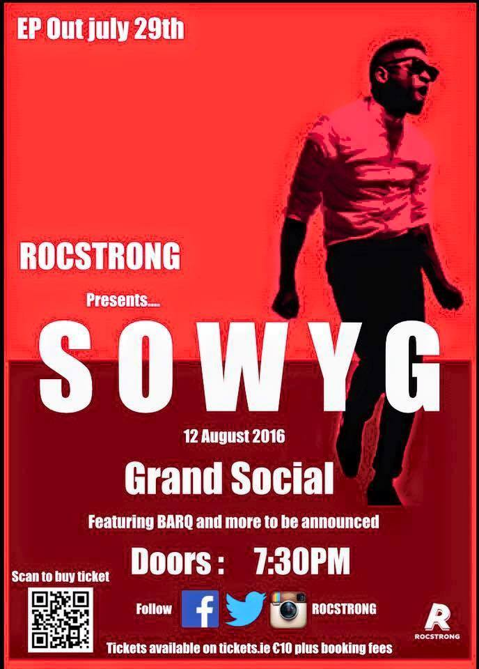 ROCSTRONG set for SOWYG EP launch gig on August 12th