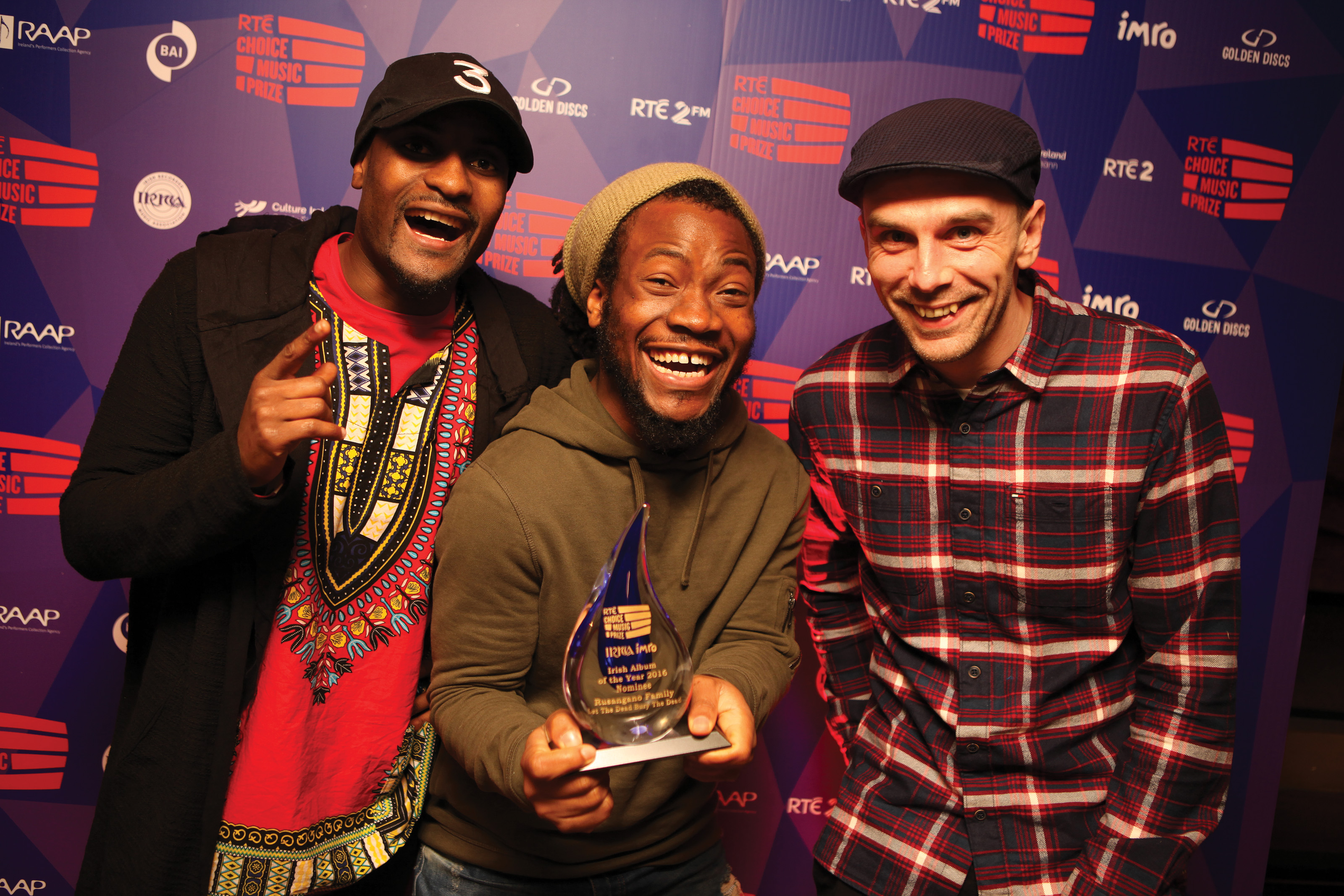 Success for Rusangano Family and Picture This at the RTÉ Choice Music Prize Awards