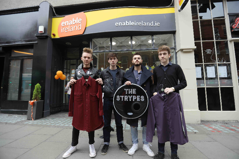 Enable Ireland Ambassadors The Strypes Donate Memorabilia for Upcoming Auction