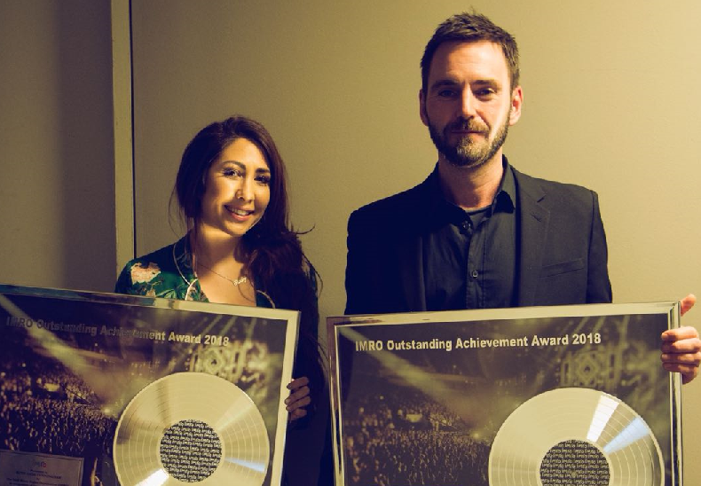 International Hit Songwriters Ruth-Anne Cunningham and Johnny McDaid Receive IMRO Outstanding Achievement Awards