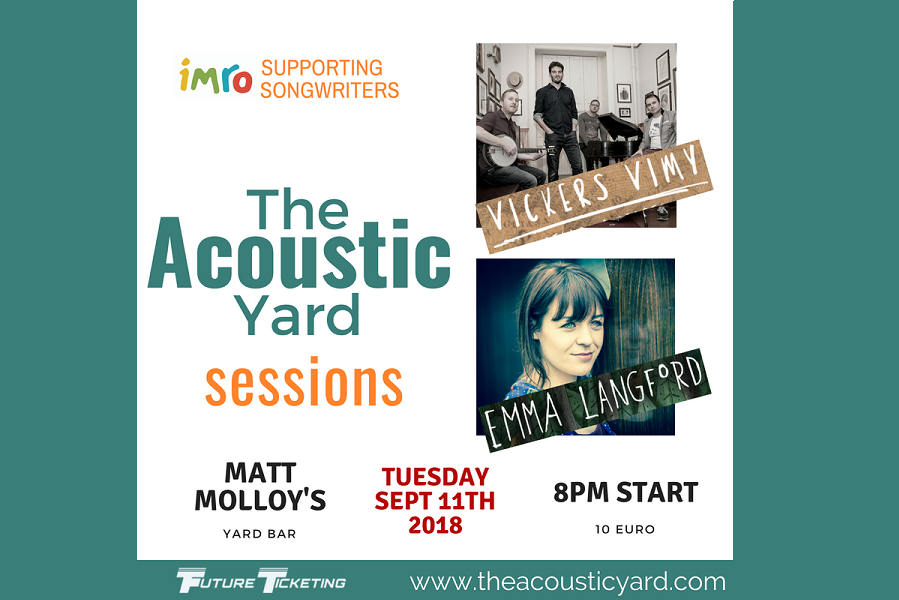 The Acoustic Yard Sessions to Feature Vickers Vimy and Emma Langford