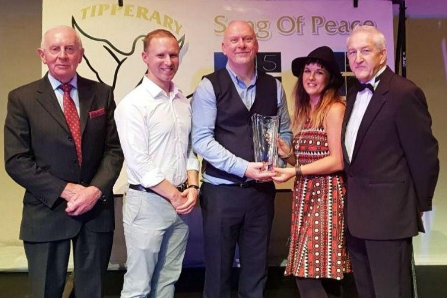 Karen Cross & Rob Martin Win Tipperary International Song of Peace