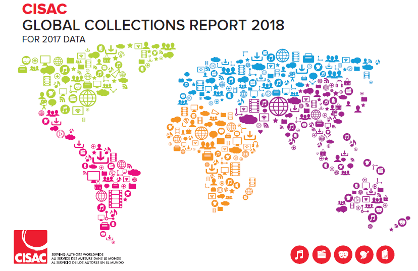 CISAC 2018 Global Collections Report Highlights Growth in Digital Royalties