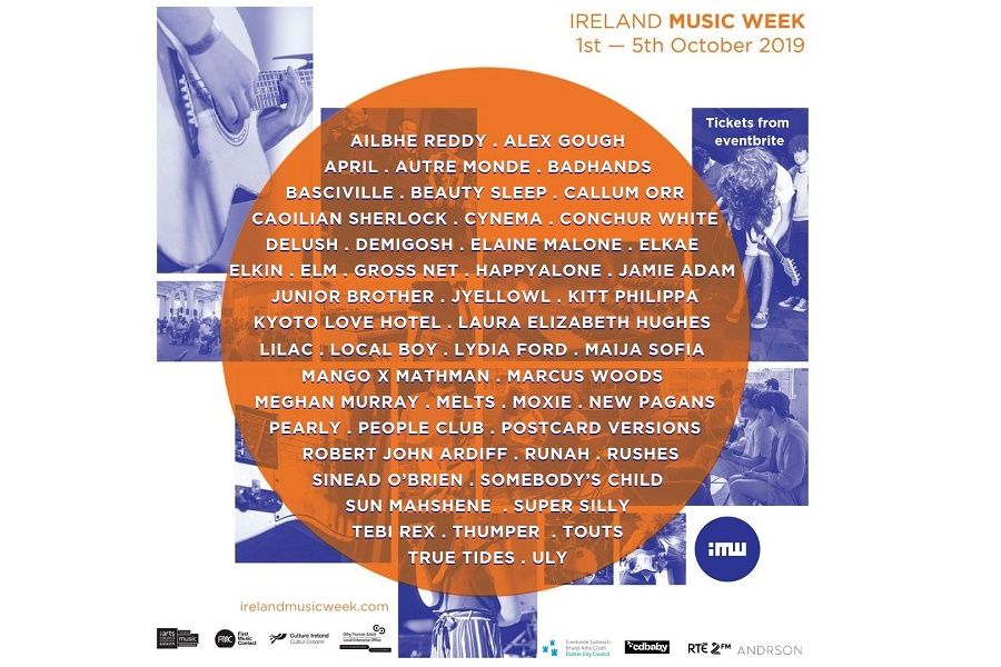 Ireland Music Week 2019 Artist Line-up Announced