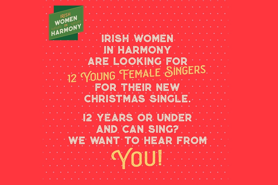 Irish Women in Harmony Announce Search for Young Female Voices to Guest on New Christmas Single