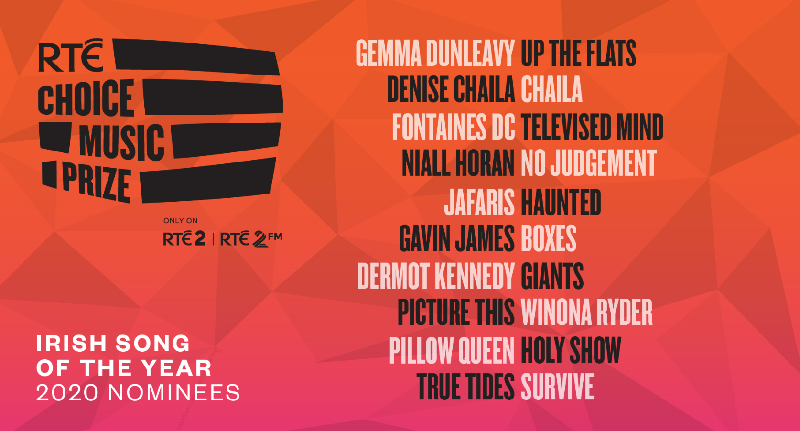 RTÉ Choice Music Prize | Irish Song of the Year 2020 | Shortlist Announced