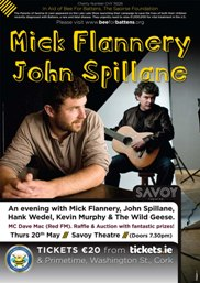 John Spillane and Mick Flannery Set to Perform at Benefit Concert